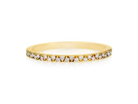 ALL V diamond ring YELLOW color