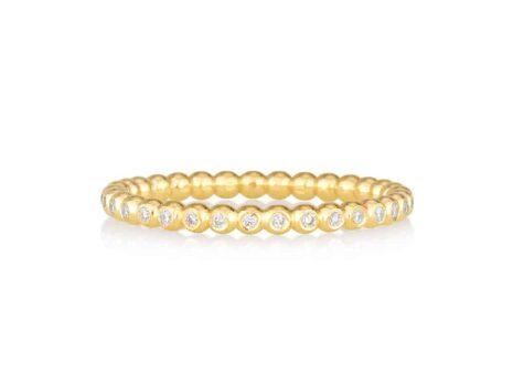 Eternity diamond ring YELLOW color