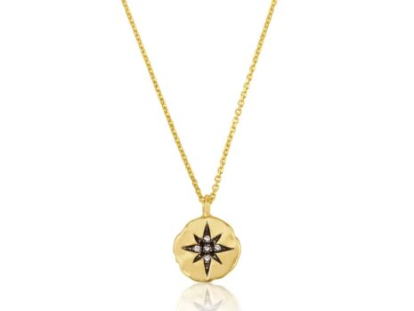 10 mm north star coin necklace YELLOW color